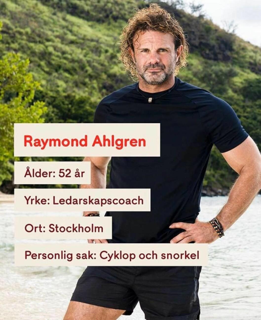 Det var 52-åriga Raymond Ahlgren som högg sig i foten under Robinson 2020