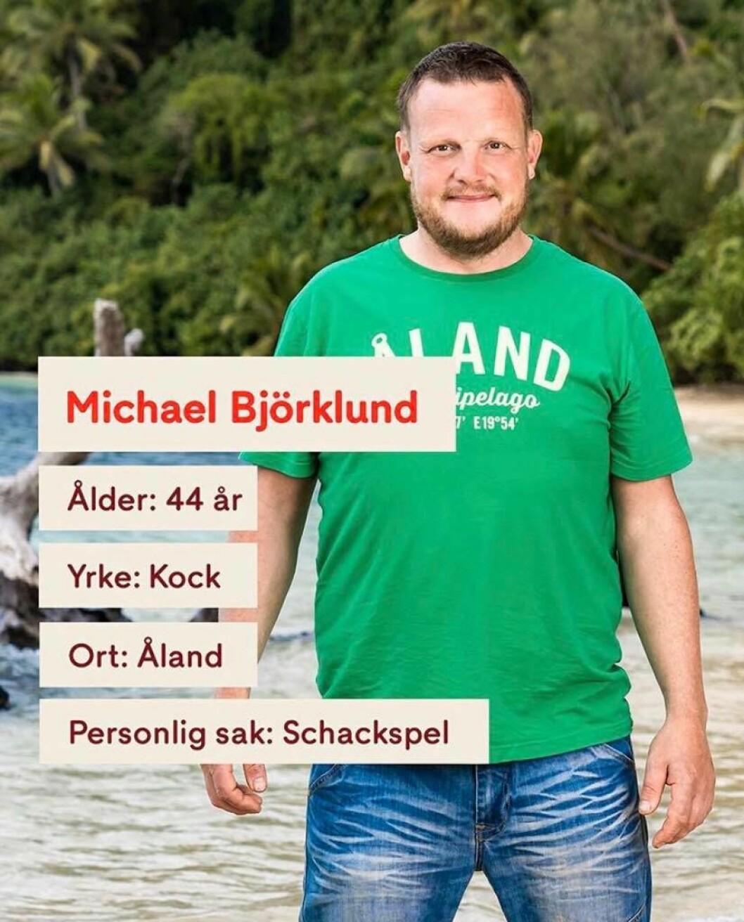 Michael Björklund i Robinson 2020