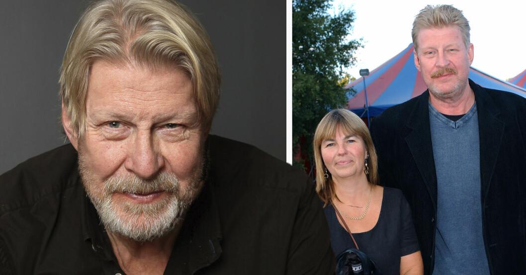 Rolf Lassgård och hustrun Birgitta