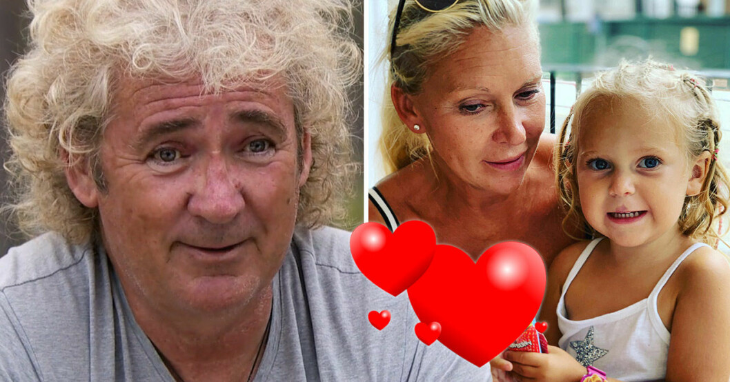 """Michael """"Rud"""" Dean Huhges och frun Patricia och dottern Luna."""