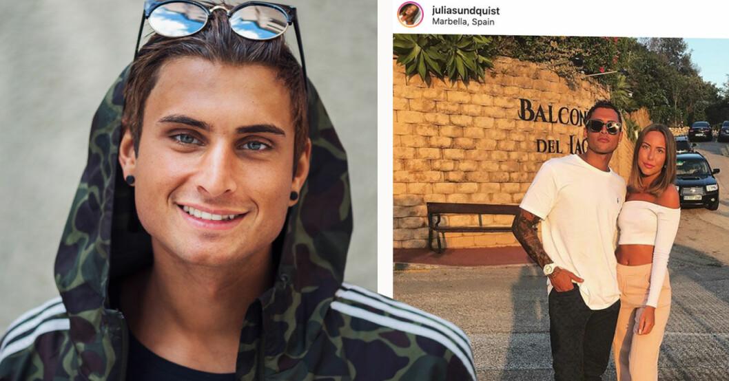 Samir BAdrans flickvän Julia SUndquist om förhållandet