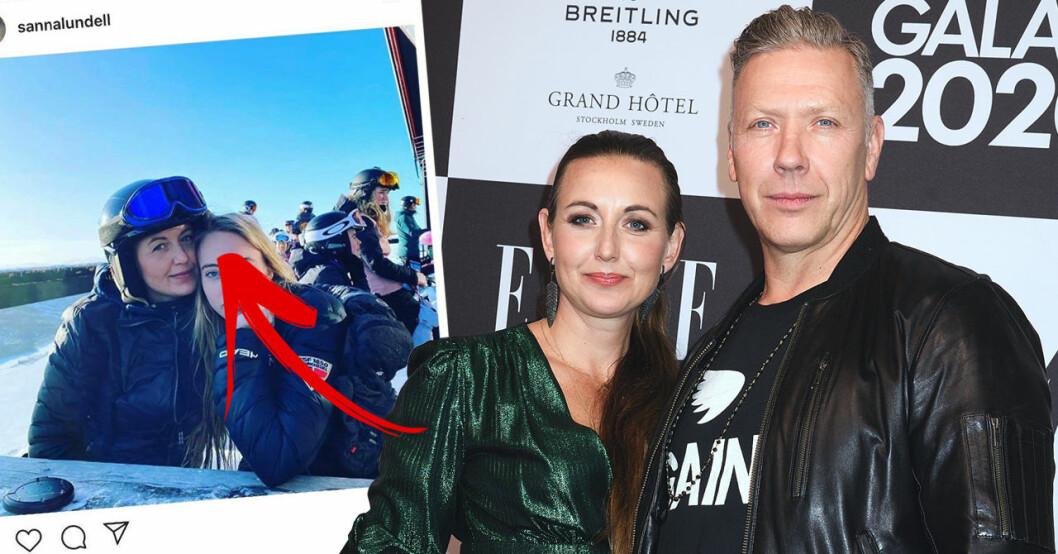 """Följarnas chock över nya bilden på Sanna Lundell och dottern Olga: """"Så lika"""""""