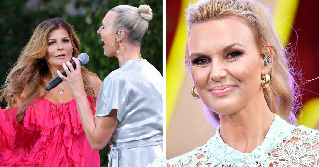 Sanna Nielsens offentliga ursäkt till Carola – efter händelsen på Allsång-scenen