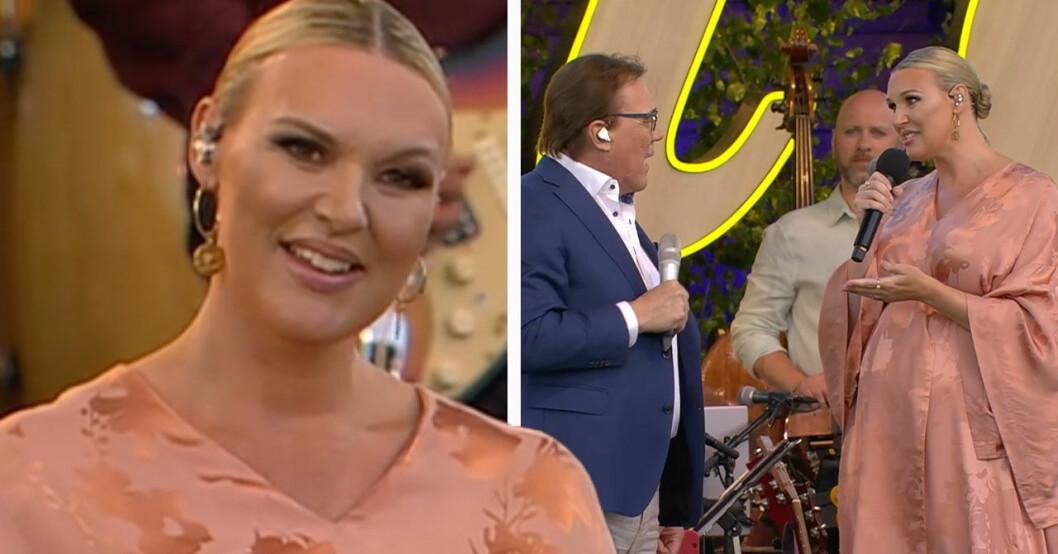 Sanna Nielsen och Christer Sjögren i Allsång på Skansen 2021