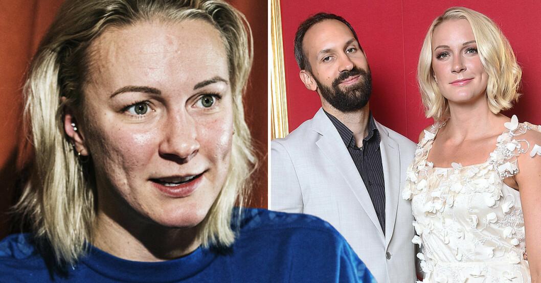 Sarah Sjöström och pojkvännen Johan de Jong Skierus.