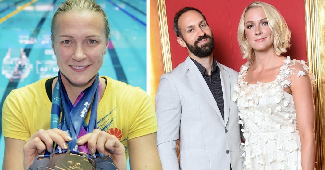 Sarah Sjöström och pojkvännen Johan
