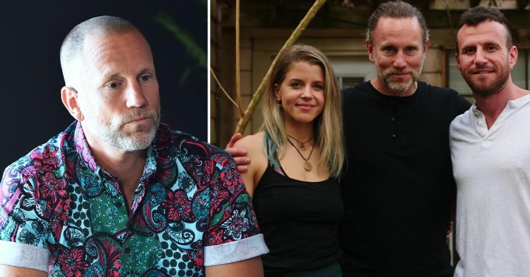 Peter Jihde och paret Dylan och Doug