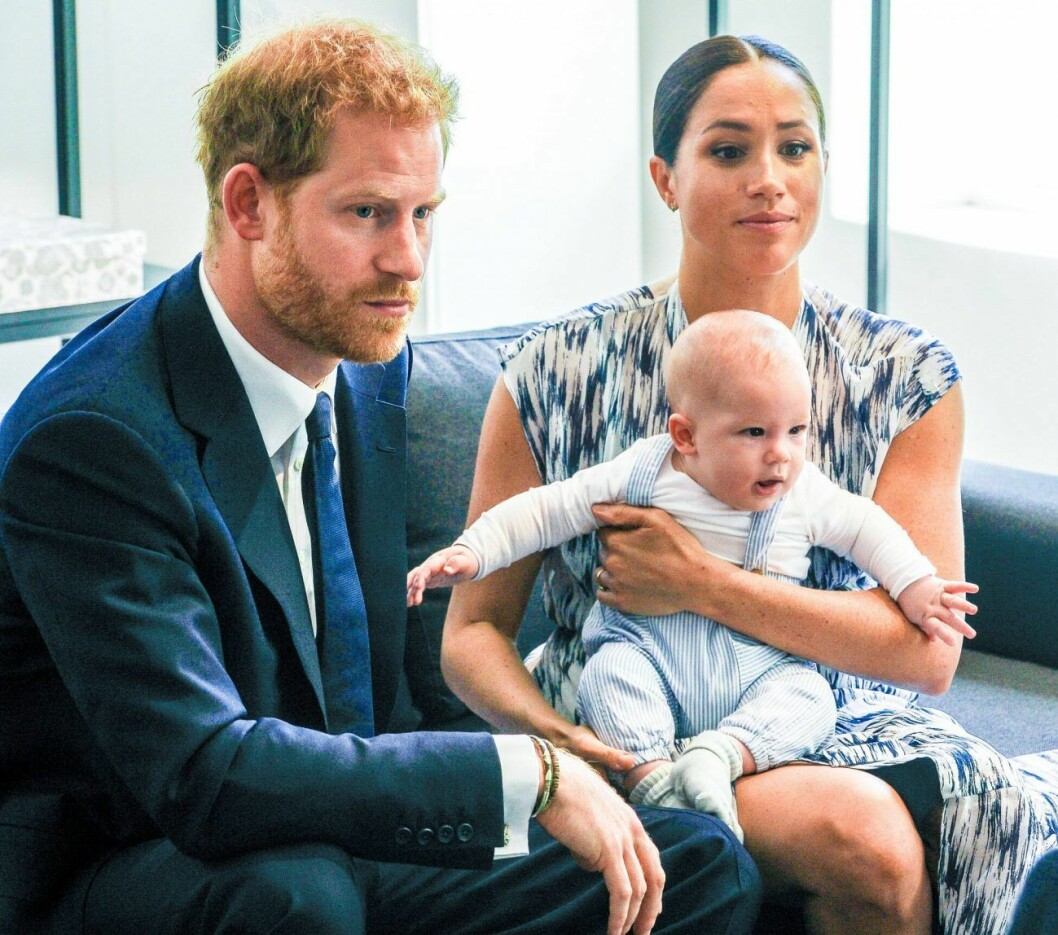 Prins Harry och Meghan Markle med sonen Archie.