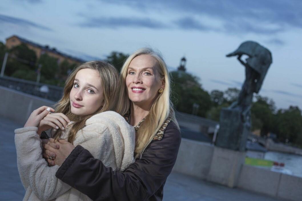 Gunilla Persson och dottern Erika