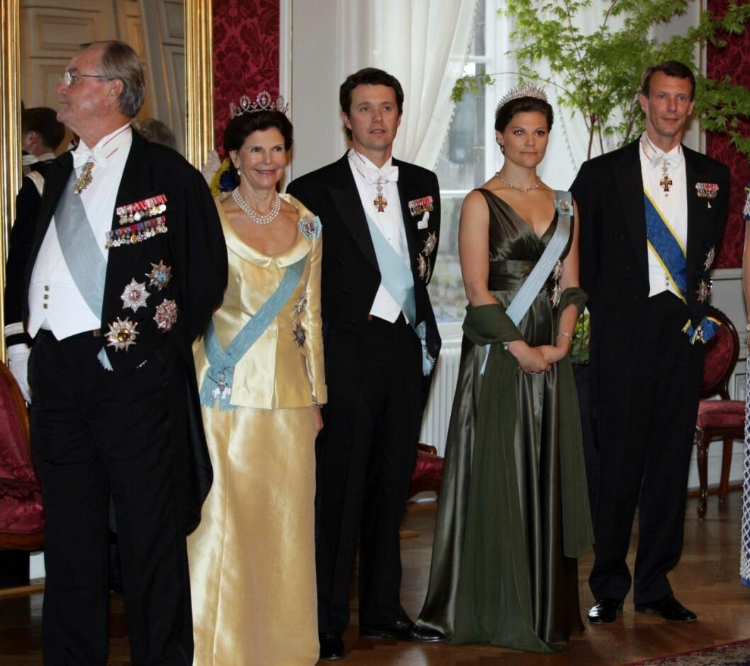 Silvia, Frederik, Victoria och Joachim