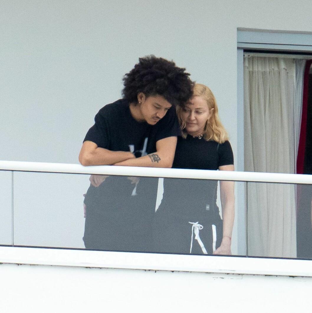 Madonna och unga dansaren Williams i Miami