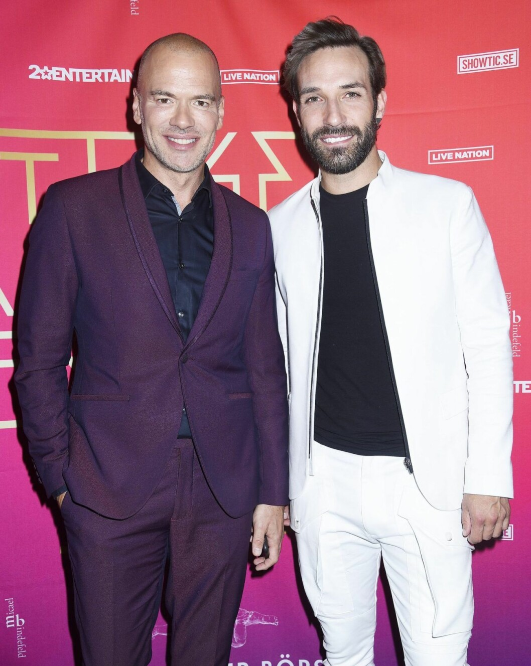 Andreas Lundstedt med pojkvännen Daniel Mitsogiannis.