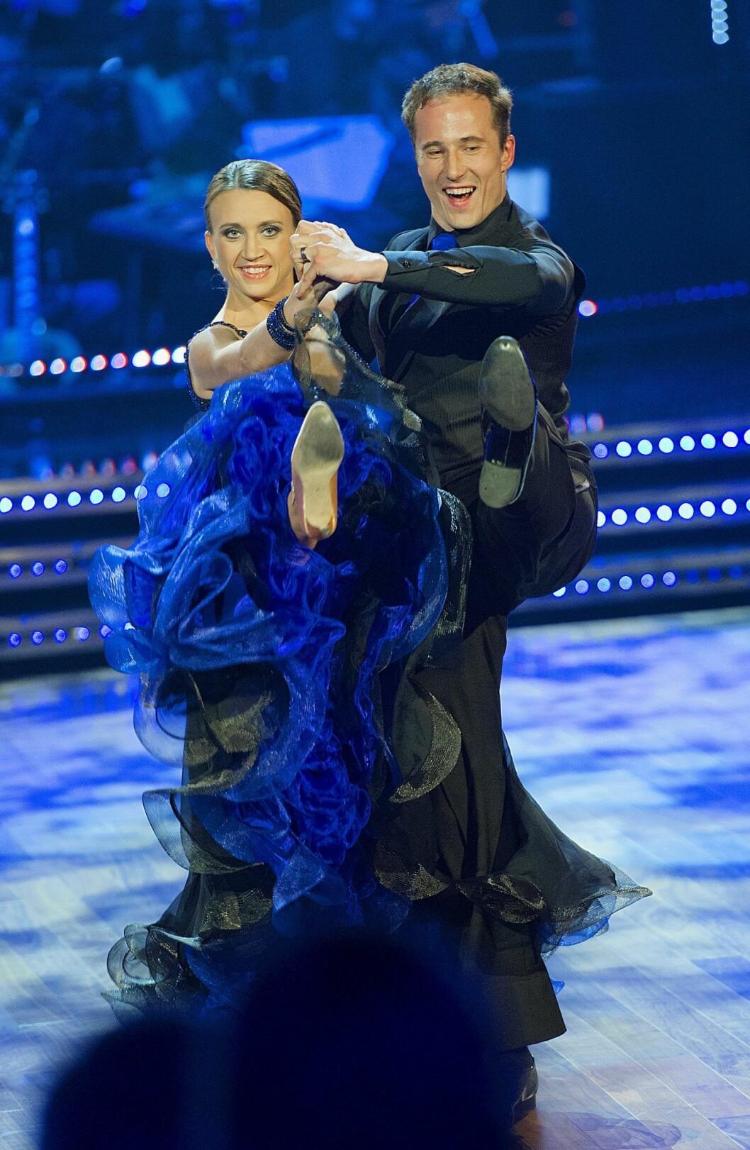Camilla Läckberg i högform med danspartnern med Kristjan Lootus i Let´s dance.