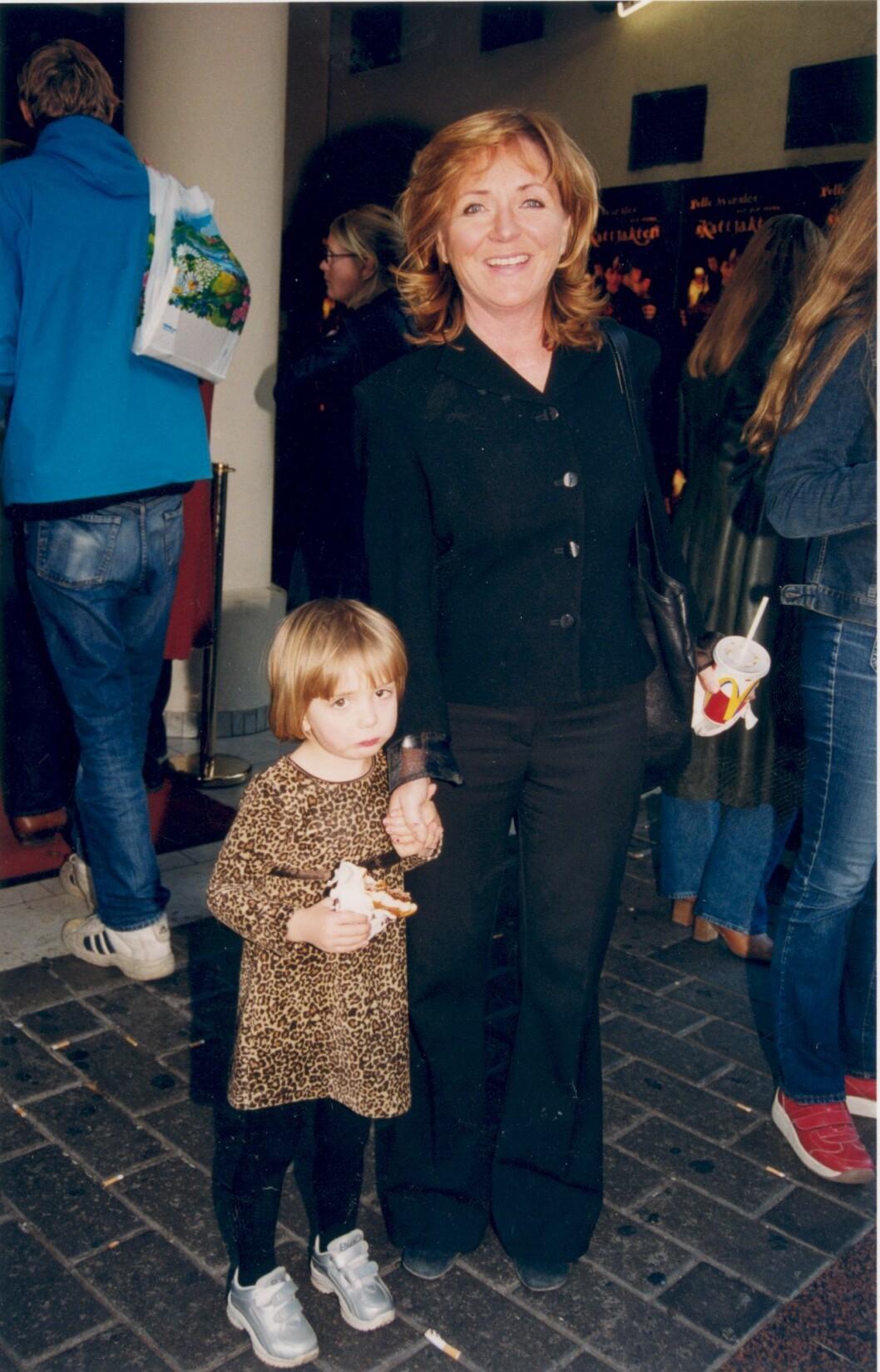Malou von Sivers med dotter Julia.