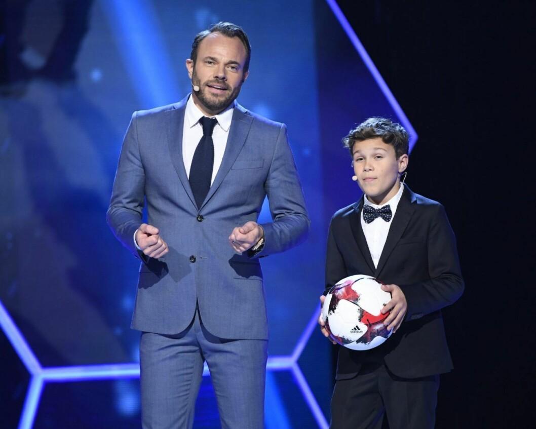 David Hellenius och sonen Leo