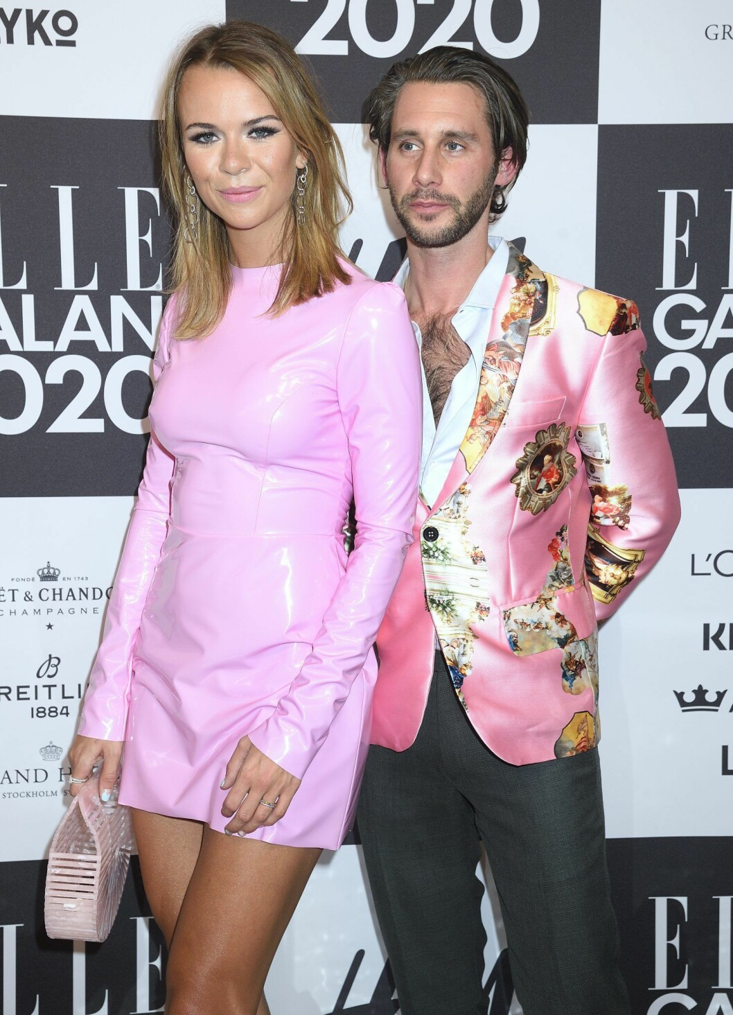 Margaux Dietz gick med exet Jacob Libermann på årets Elle-gala.
