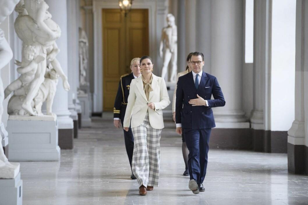 Kronprinsessan Victoria och prins Daniel på kronprinsessans namnsdag 2020