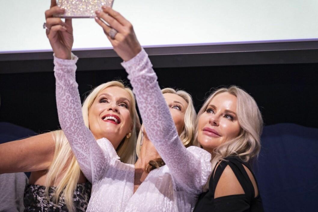 Gunilla Persson, Siv Cotton och Åsa Vesterlund i Svenska Hollywoodfruar, 2019.