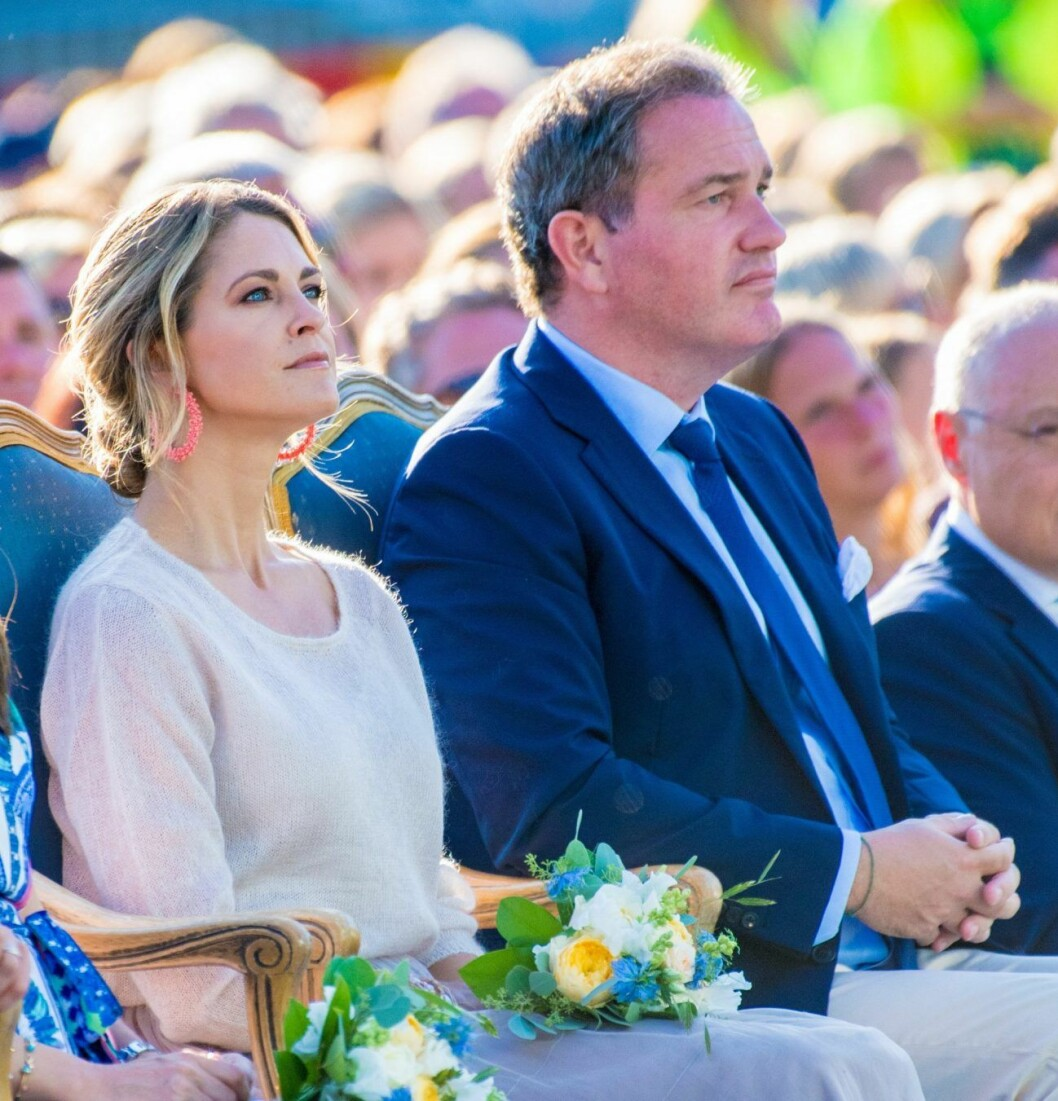 Prinsessan Madeleine och Chris O´Neill under kronprinsessan Victorias födelsedagsfirande.