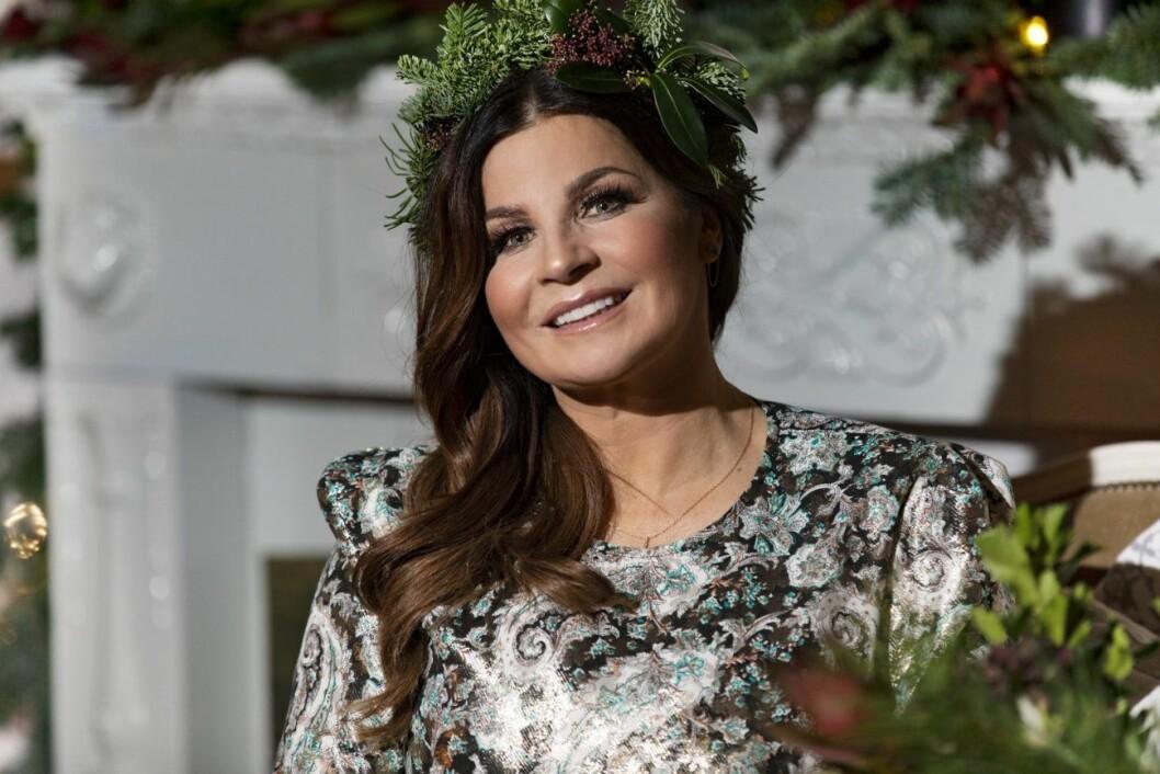I julas kunde tv-tittarna se Carola Häggkvist i programmet Carolas jul.
