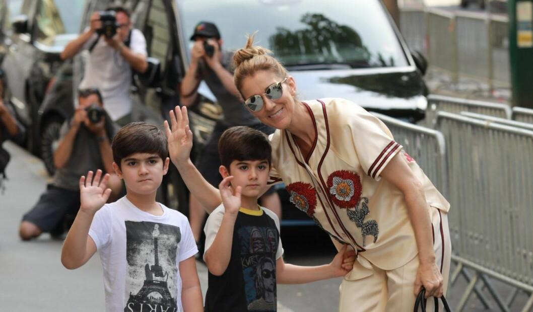 Céline Dion och tvillingarna