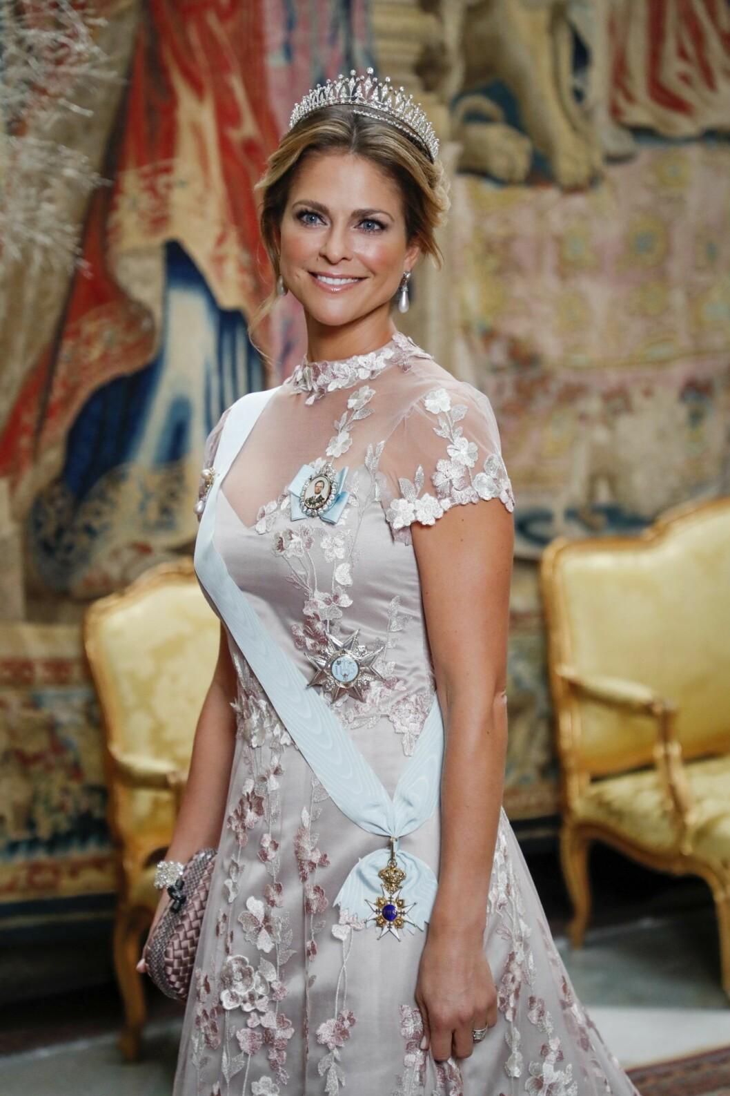 Prinsessan Madeleine på Nobelfesten 2019.