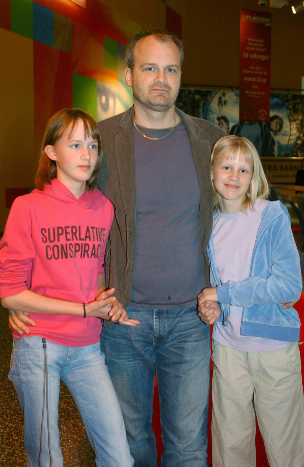 Johan Rheborg med barn