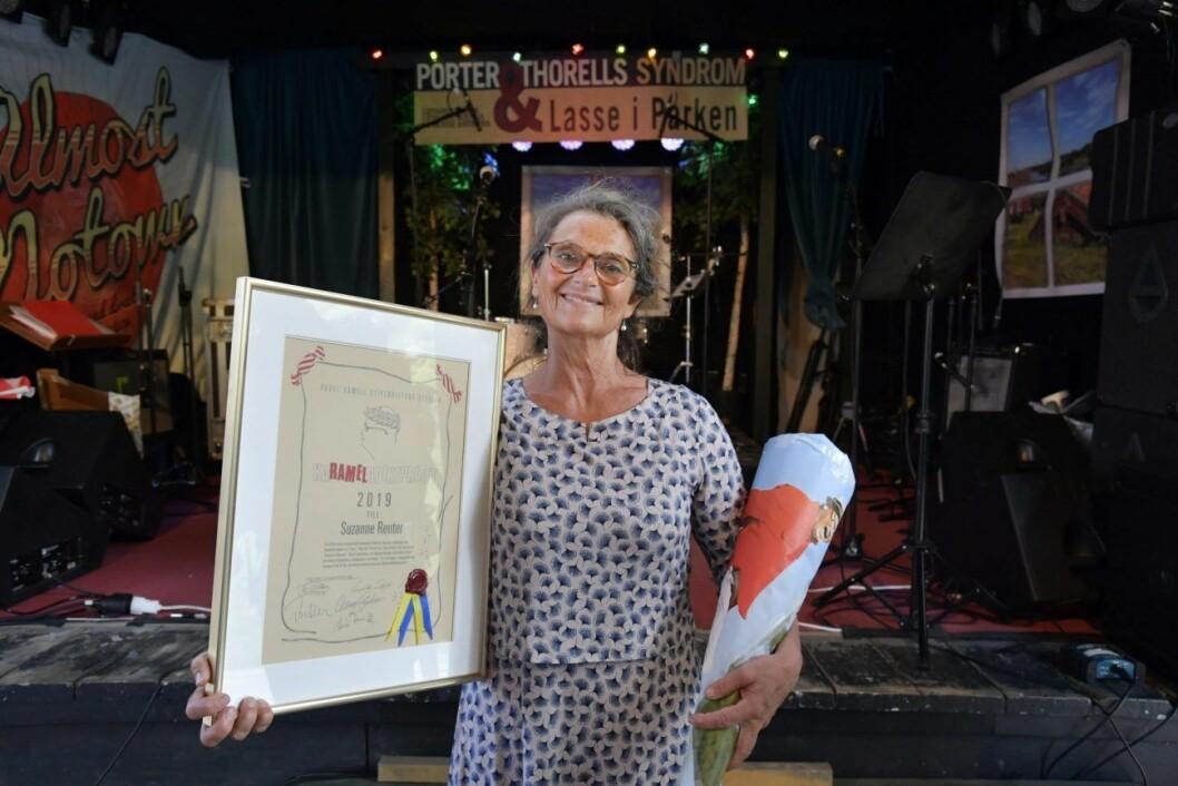 Suzanne Reuter blev förra årets KaRAMELodiktstipendiat.