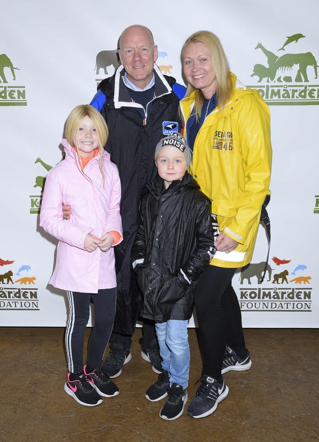 Tony Rickardsson med Christina och barnen Victoria och William