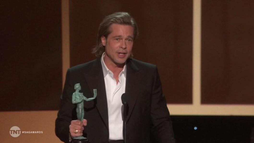 Brad Pitts tal under SAG-galan blev mycket uppmärksammat.