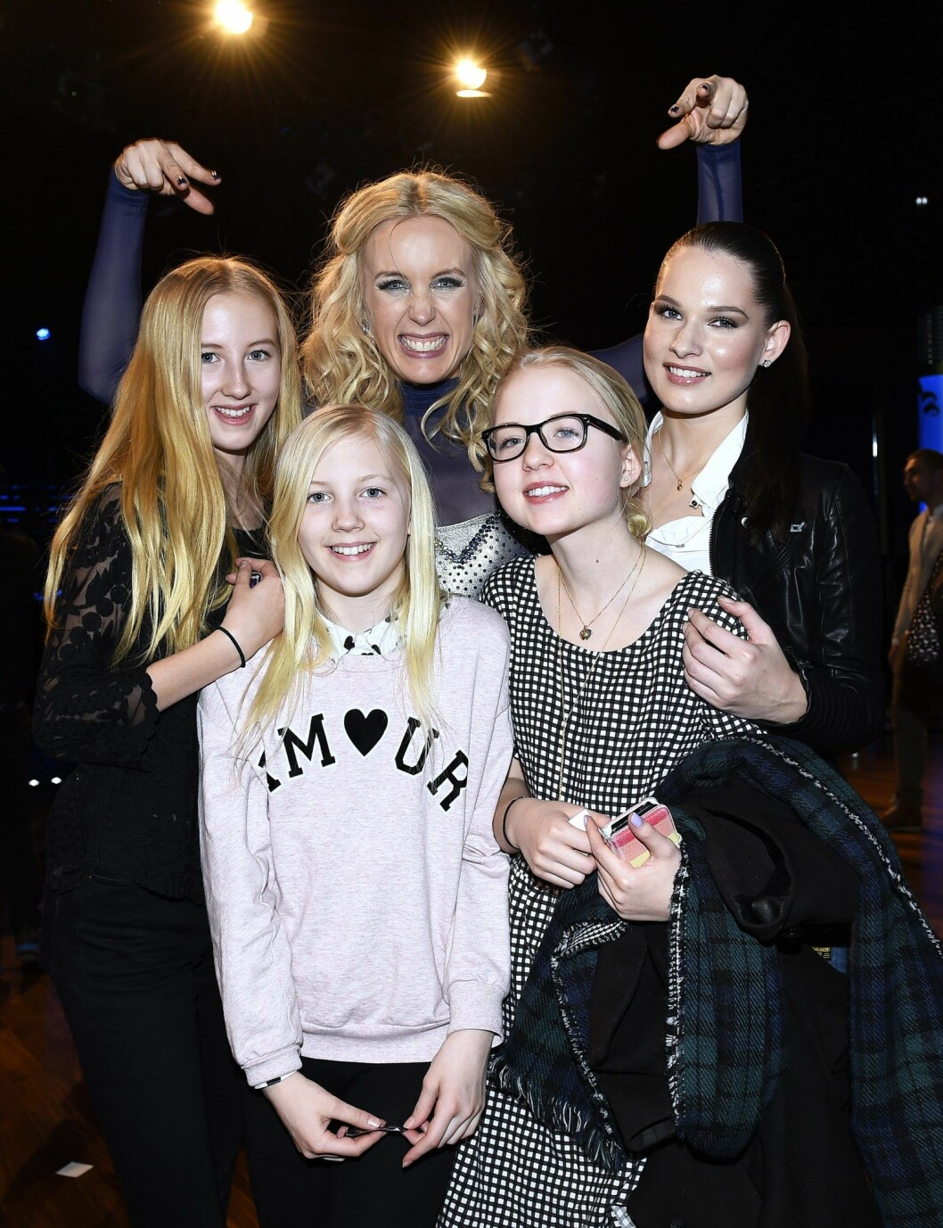 Jenny Strömstedts med sina barn
