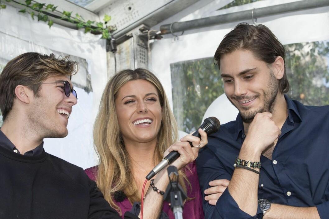 Syskonen Benjamin Ingrosso, Bianca Ingrosso och Oliver Ingrosso firade på mormor Christina Schollins födelsedag.