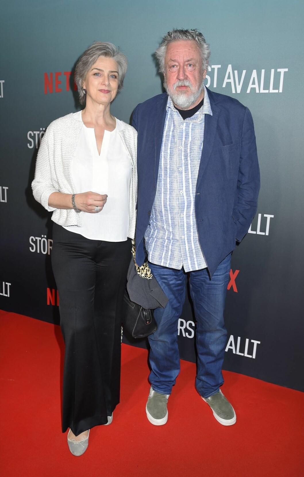 Kim Persson med maken Leif på premiären av Störst av allt.