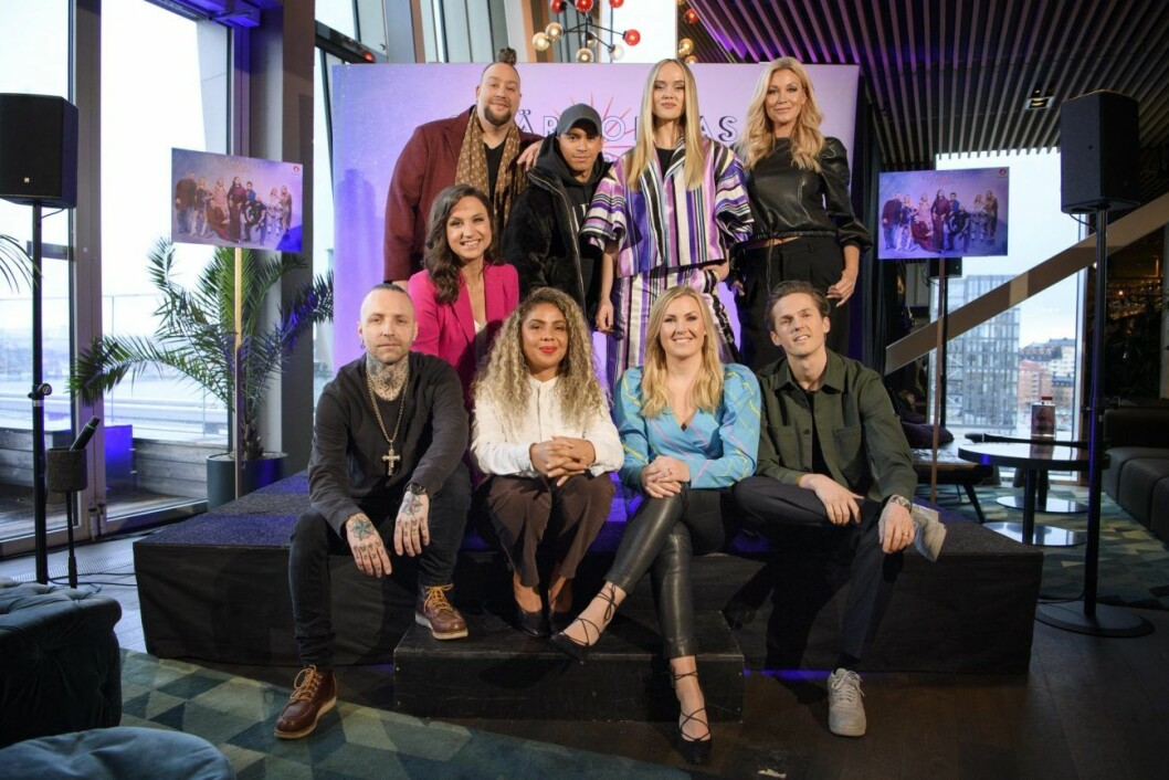 Nano, Jon Henrik Fjällgren, Amanda Winberg, Jessica Andersson, Petra Mede, Nicke Borg, Mapei, Elisa Lindström och David Lindgren