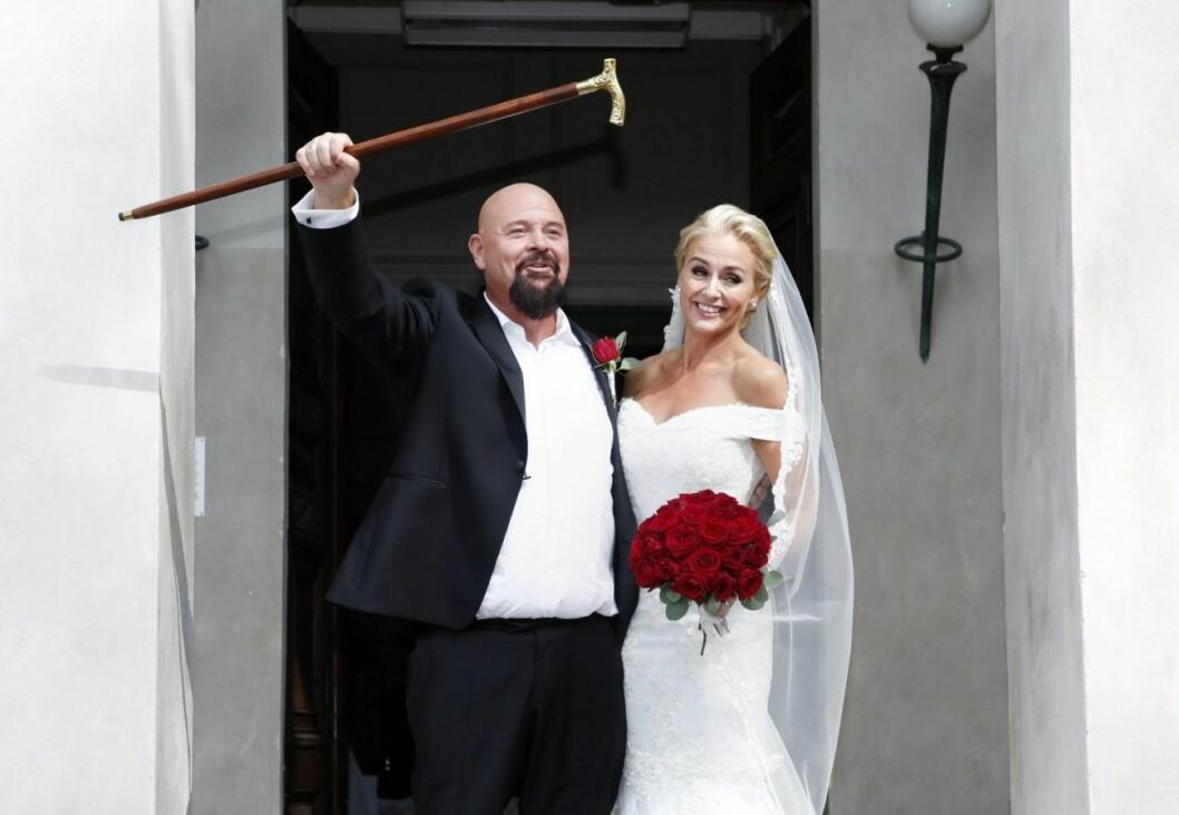 Anders Bagge och Johanna Lind gifte sig i augusti 2018.