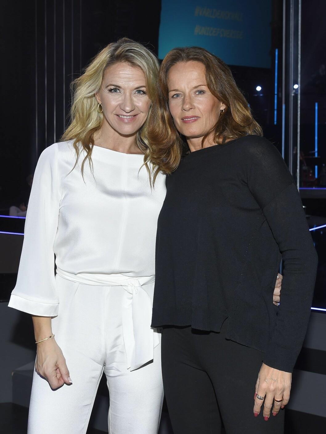 Malin Berghagen med lillasyster Kristin Kaspersen.