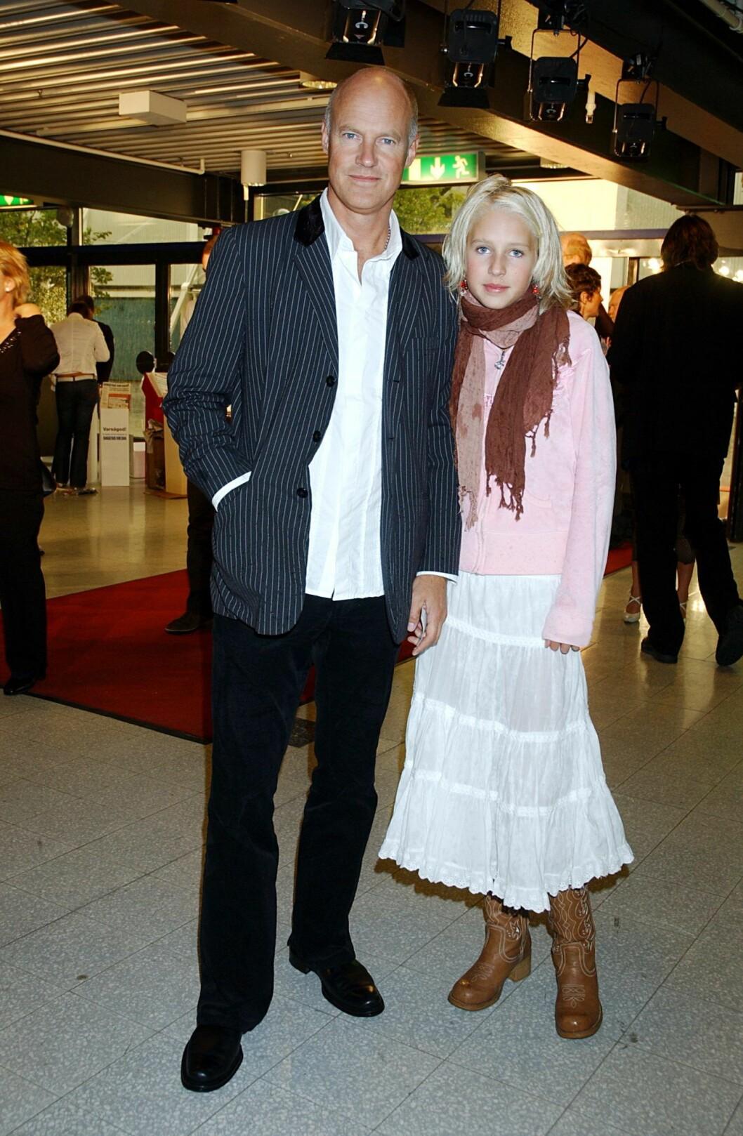Stefan Sauk och dottern Lova