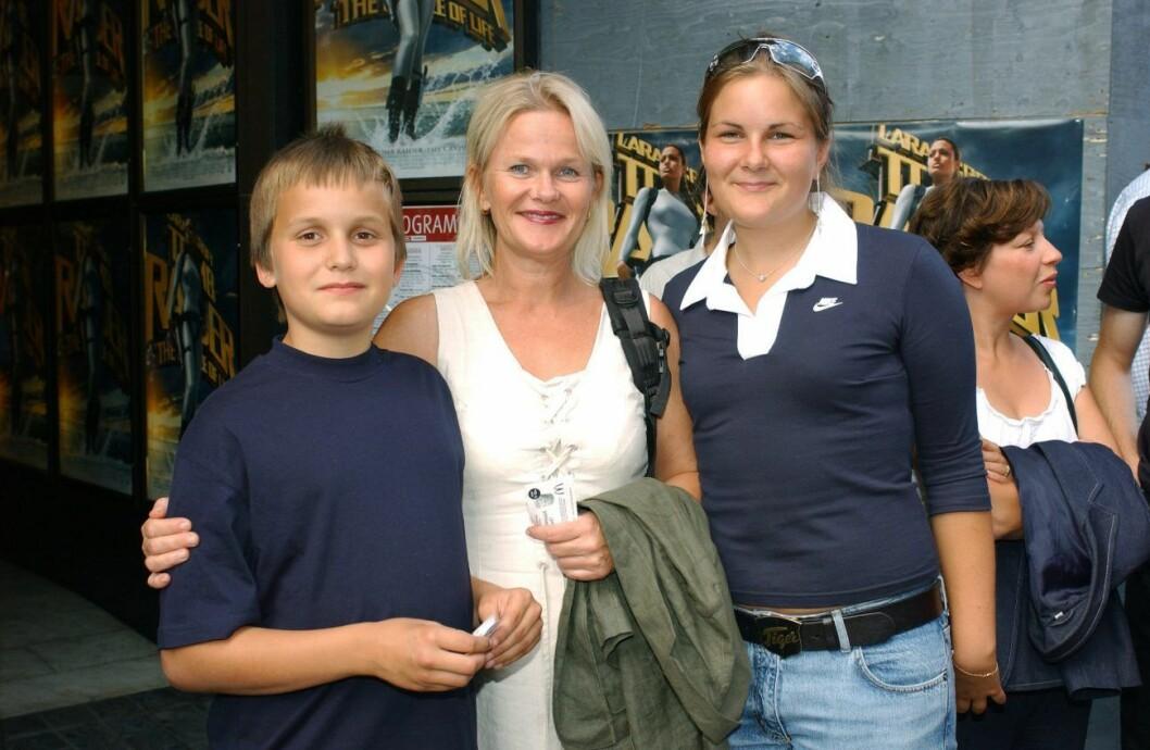 Sissela och barnen Martina och Hjalmar