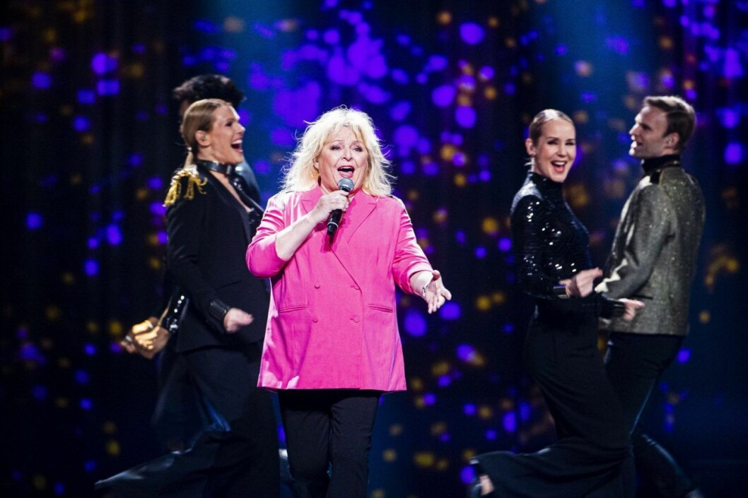 Kikki Danielsson under Melodifestivalen 2020.