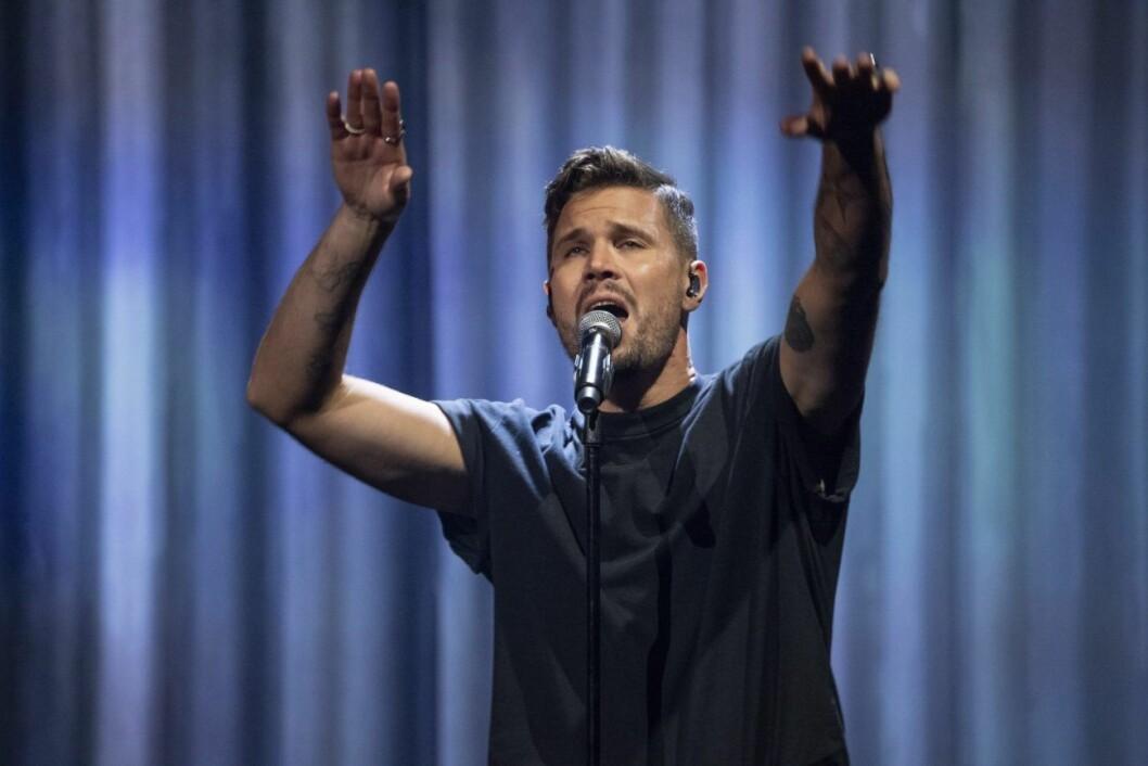 Robin Bengtsson sjunger låten Take a chance i Melodifestivalen i år.
