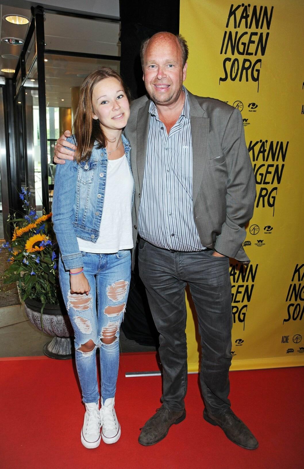 Lasse och dottern Amalia