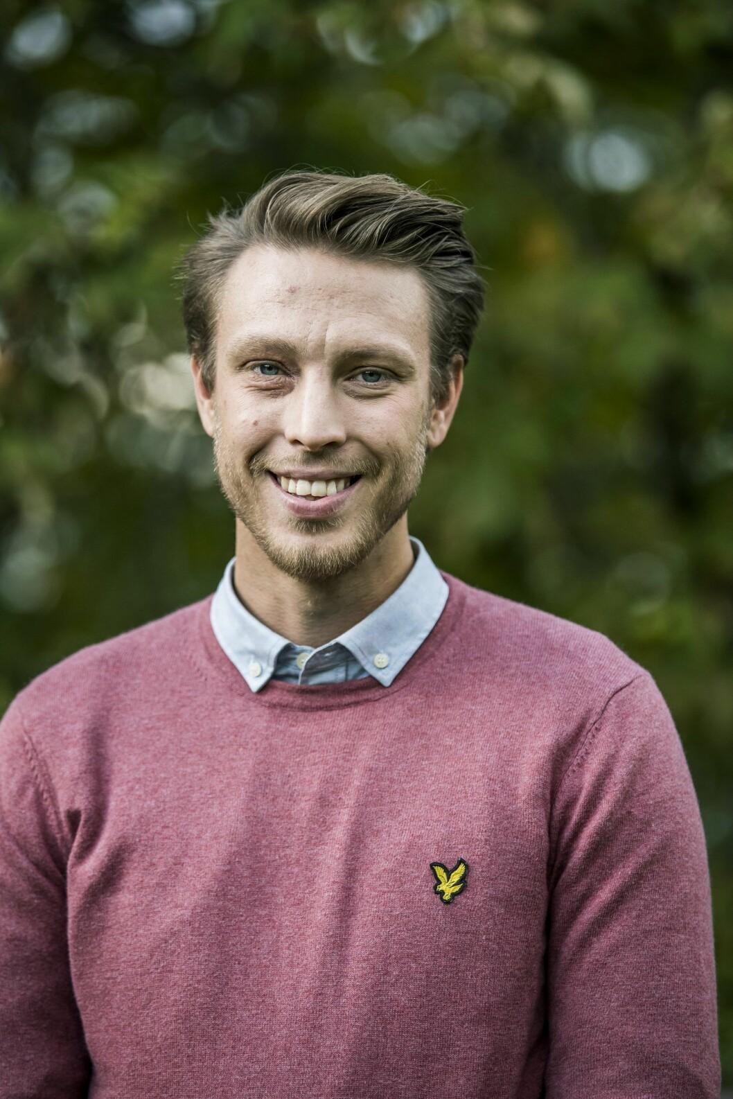 """28-åriga Per """"Pelle"""" Hansson Edh sökte – och fann – kärleken i Bonde söker fru."""