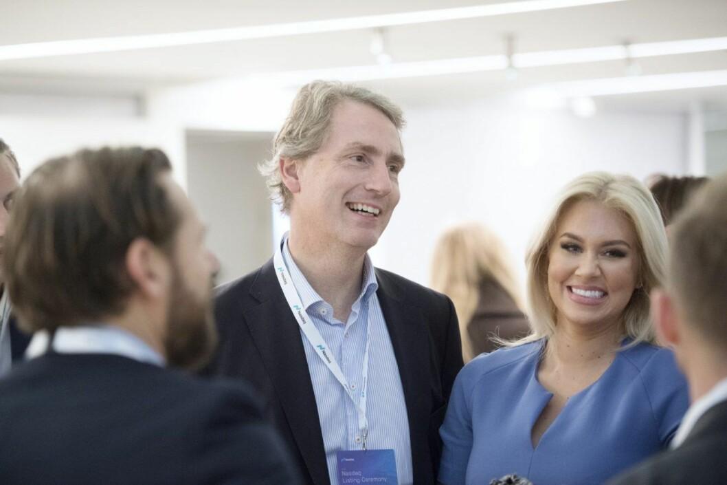 Erik Selin och Isabella Löwengrip på börsen