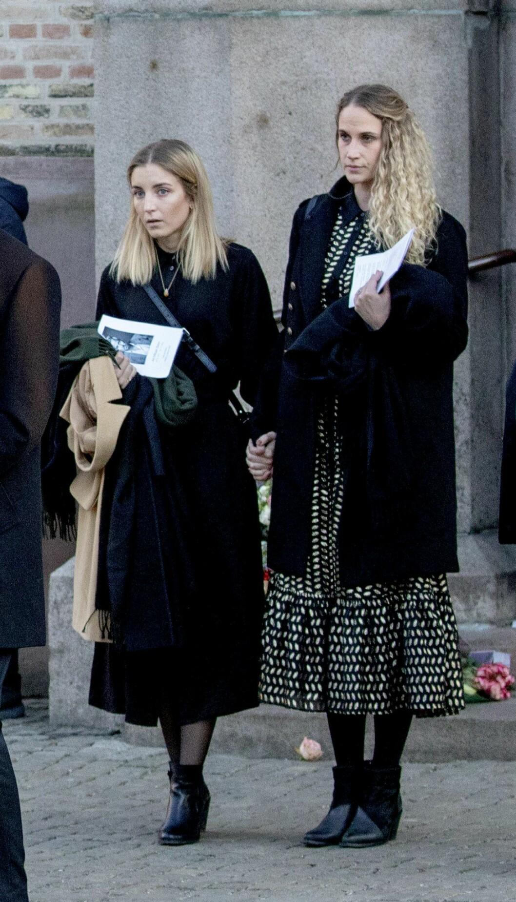 Ebba Ritts på Ari Behns begravning