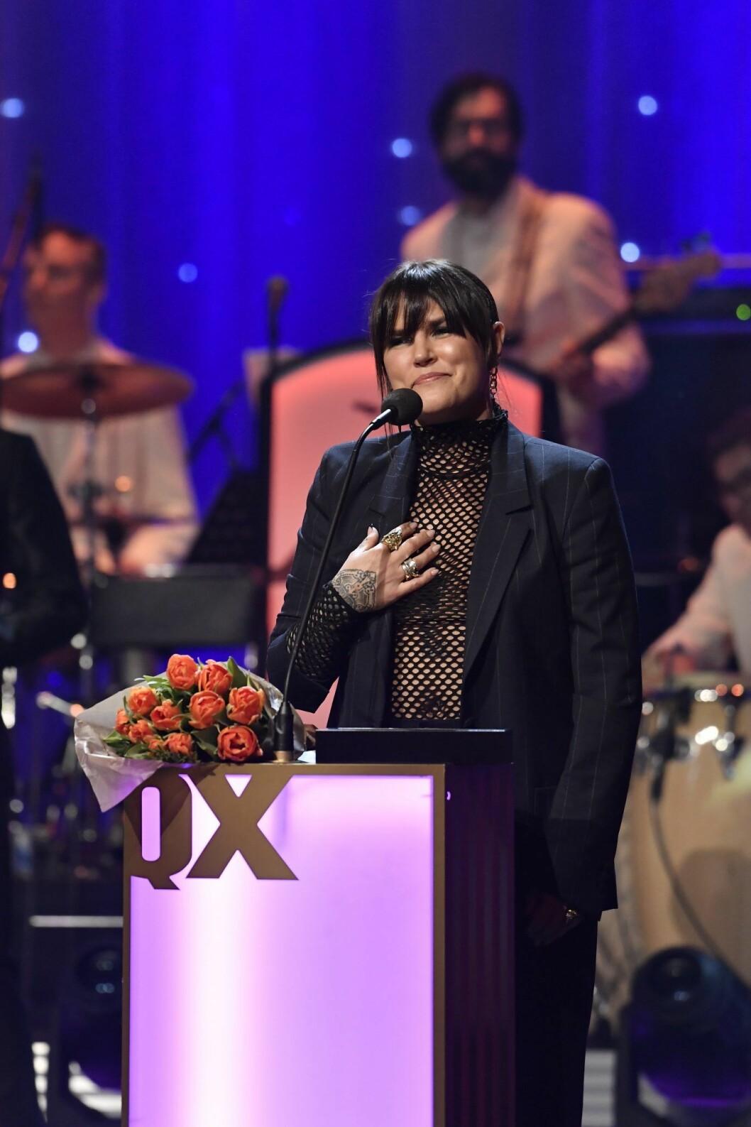 Förra året tog Mia Skäringer emot pris för Årets Scen på QX-galan.