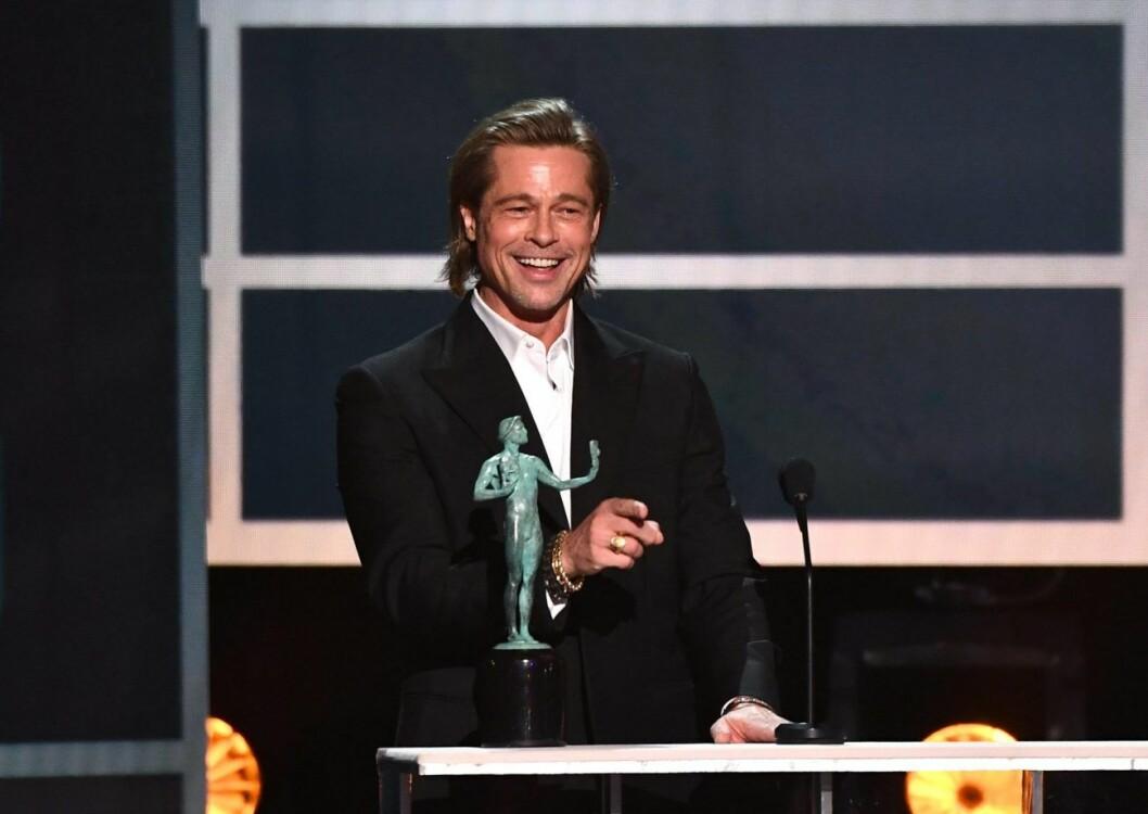 Brad Pitt prisades också under Screen Actors Guild Awards –och höll ett uppmärksammat tal.