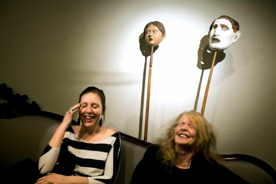 Martina Montelius tog över teater Brunnsgatan 4 efter sin mamma, Kristina Lugn, 2011.