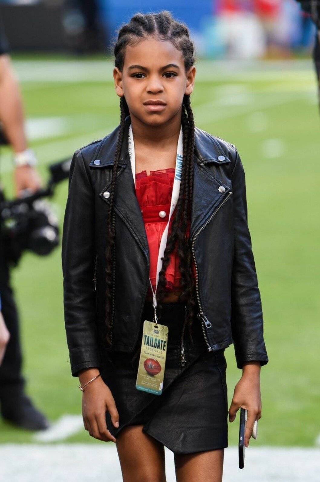 Blue Ivy Carter på Super Bowl 2020.