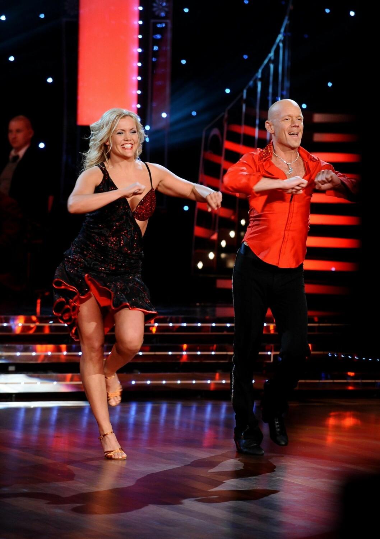 Tony Rickardsson trädde dansgolvet i Let´s dance 2008 med danspartnern Annika Sjöö.