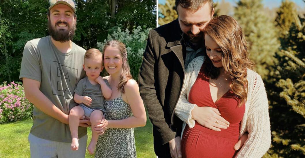 Sean MacDonald dog i en mc-olycka. Nu är hans gravida fru och son ensamma kvar.